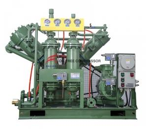 How does a hydrogen compressor compress hydrogen?