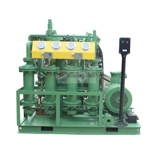 Oilless hydrogen filling compressor