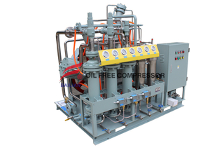 m125 quite water cooled helium piston compressor for recovery