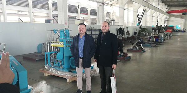 Customer visit Bailian compressor