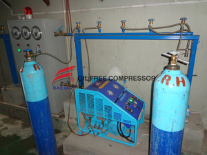 reciprocating high pressure microboost oil free oxygen compressor